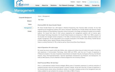 Screenshot of Team Page bcnafrica.com - Management - captured Oct. 5, 2014