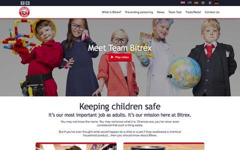 Screenshot of Home Page bitrex.com - Bitrex - Keeping children safe - captured June 1, 2017