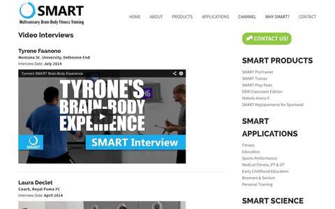 Screenshot of Testimonials Page multisensoryfitness.com - Video Interviews | SMART Multisensory Brain-Body Fitness Training - captured Nov. 4, 2014