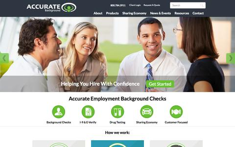 Employment Background Checks | Accurate Background