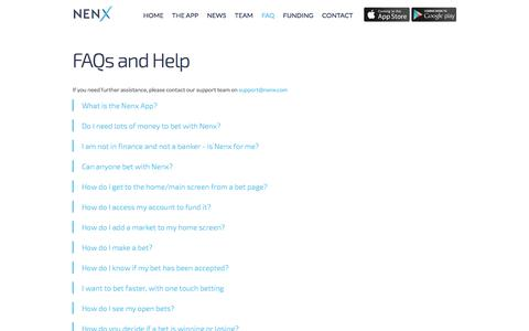 Screenshot of FAQ Page nenx.com captured Nov. 4, 2014