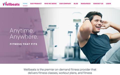Screenshot of Home Page wellbeats.com - Wellbeats | Virtual Fitness Training - captured March 11, 2018