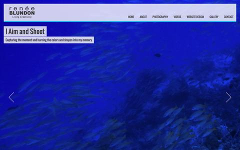 Screenshot of Home Page reneeblundon.com - RENEE BLUNDON - captured Jan. 30, 2016