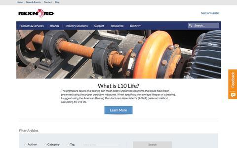 Screenshot of Blog rexnord.com - Blog - Rexnord - captured Nov. 12, 2017