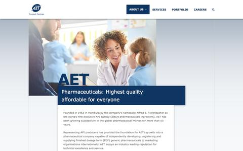 Screenshot of About Page aet.eu - About us - AET - Trusted Partner - captured July 28, 2018