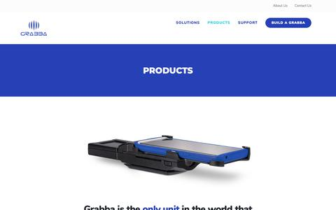 Screenshot of Products Page grabba.com - Products - Grabba - captured Nov. 11, 2018