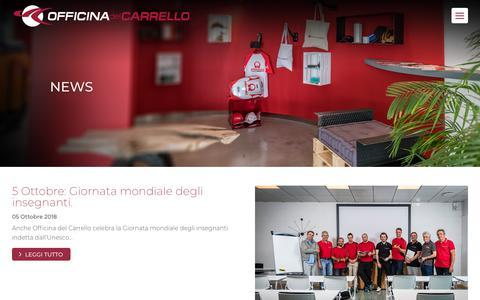 Screenshot of Press Page officinadelcarrello.it - News   Officina del Carrello - captured Oct. 20, 2018