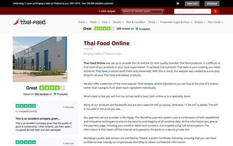 Screenshot of About Page thai-food-online.co.uk - Thai Food Online ::: About Us - captured July 11, 2018