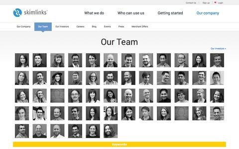 Screenshot of Team Page skimlinks.com - Our Team | Skimlinks - captured Sept. 17, 2014