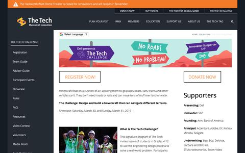 Screenshot of Signup Page thetech.org - The Tech Challenge presented by Dell | The Tech - captured Oct. 19, 2018