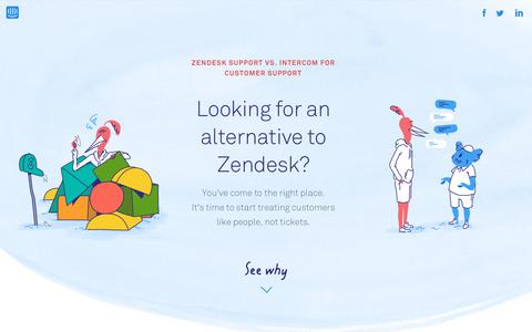 Screenshot of Support Page intercom.com - Zendesk Alternative for Customer Support | Intercom - captured Sept. 12, 2017