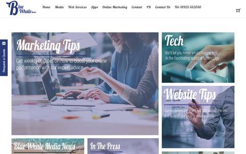 Screenshot of Blog bluewhalemedia.co.uk - Technology News & Tips - Blogs - Blue Whale Media - Marketing Agency - captured Sept. 28, 2018