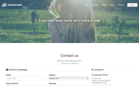 Screenshot of Contact Page hashvash.com - Contact | Hashvash - captured Sept. 24, 2016