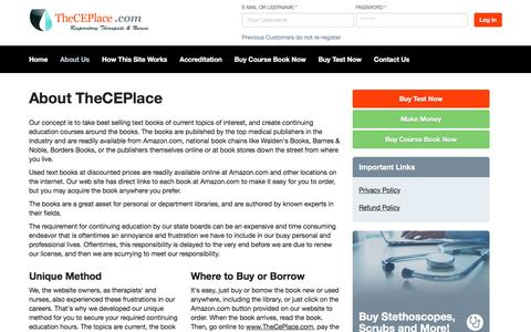 Screenshot of About Page theceplace.com - About TheCEPlace | The CE Place - captured Dec. 3, 2016