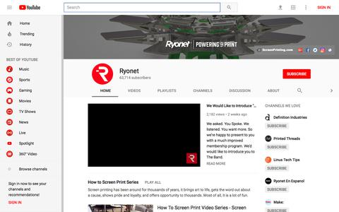 Ryonet - YouTube - YouTube