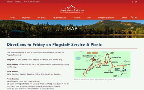 Screenshot of Maps & Directions Page adventurerabbi.org - Map - Adventure Rabbi - captured Oct. 30, 2018