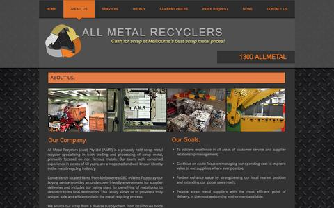 Screenshot of About Page allmetalrecyclers.com - About Us - All Metal Recyclers - captured Nov. 20, 2016