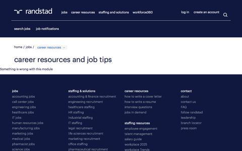 Career Resources |  Randstad USA