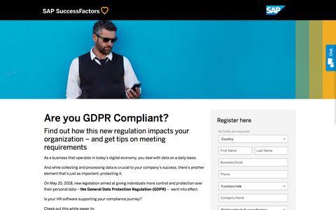 GDPR Compliance             | SuccessFactors