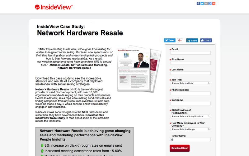 InsideView Success Story: Network Hardware Resale