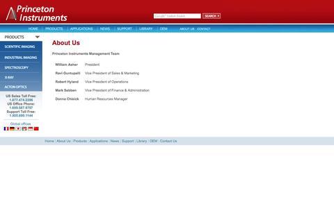 Screenshot of Team Page princetoninstruments.com - Princeton  Instruments - Applications - captured Dec. 10, 2015