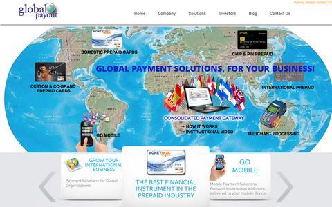 Screenshot of Home Page globalpayout.com - Global Payout, Inc. |  Business to Business Global Payment Partners - captured Sept. 22, 2014