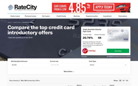 Top 25 Credit Card Introductory Offers: Deals | RateCity