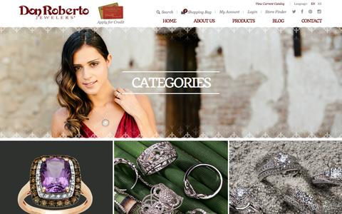Screenshot of Products Page donrobertojewelers.com - Fashion, Bridal, Religious, Baby and Children's Jewelry - captured Jan. 7, 2016