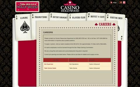 Screenshot of Jobs Page sanfelipecasino.com - San Felipe Casino | Careers - captured Oct. 4, 2014