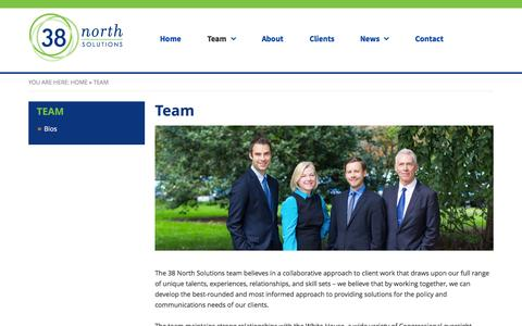 Screenshot of Team Page 38northsolutions.com - Team - 38 North Solutions - captured Aug. 14, 2015