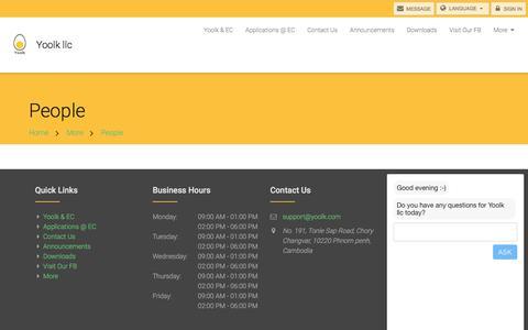 Screenshot of Team Page yoolk.com - People - Yoolk llc - captured July 27, 2018