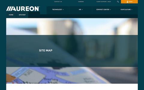 Screenshot of Site Map Page aureon.com - Site Map | Aureon - captured Aug. 10, 2016
