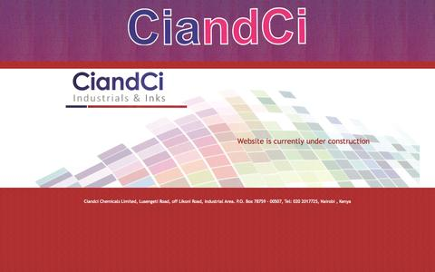 Screenshot of Home Page ciandci.com - Ciandci Chemicals Limited - captured Oct. 2, 2014