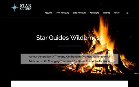 Screenshot of Home Page starguideswilderness.com - STAR Guides Wilderness - captured Feb. 25, 2016