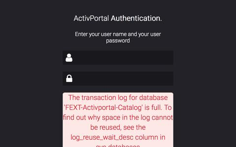 ActivPortal | Authentication