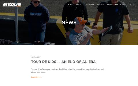 Screenshot of Press Page entoure.com.au - News — Entoure - captured May 19, 2017