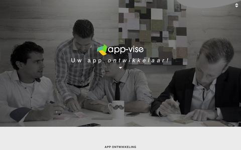 Screenshot of Home Page app-vise.nl - App-vise | Uw app ontwikkelaar - captured Dec. 26, 2015