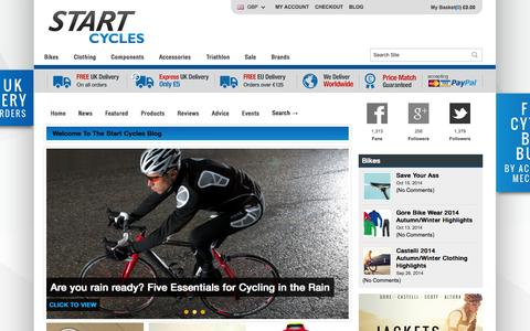 Screenshot of Blog startcycles.co.uk - Start Cycles » - captured Oct. 29, 2014