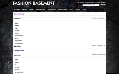 Screenshot of Site Map Page fashionbasement.nl - Fashion Basement - captured Sept. 30, 2014