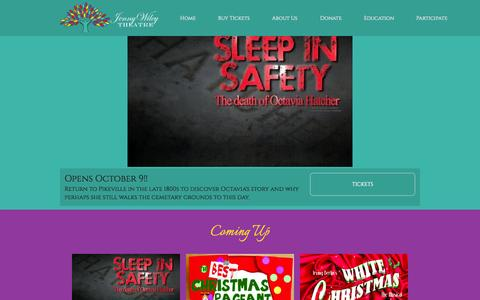 Screenshot of Support Page jwtheatre.com - Home - Jenny Wiley Theatre - captured Oct. 6, 2014