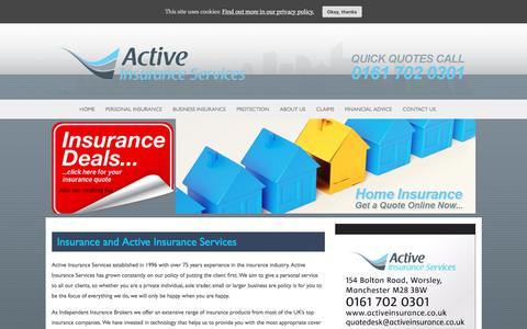 Screenshot of About Page activeinsurance.co.uk - Insurance and Active Insurance Services - Active Insurance Services - captured Sept. 24, 2018
