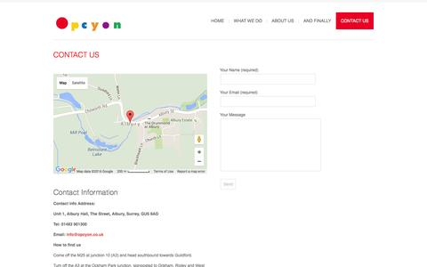 Screenshot of Contact Page opcyon.co.uk - Contact Us | Opcyon - captured Feb. 15, 2016