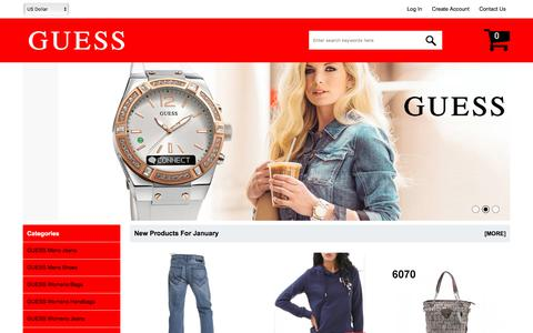 Screenshot of Home Page wowinvicto.com - GUESS®Shoes Store - Sign Up Now And Get 15% Off On Your First Order Online - captured Jan. 31, 2018