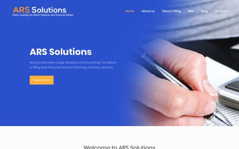 Screenshot of Home Page arssolutions.co.in - Home - Welcome to ARS Solutions - captured Dec. 17, 2018