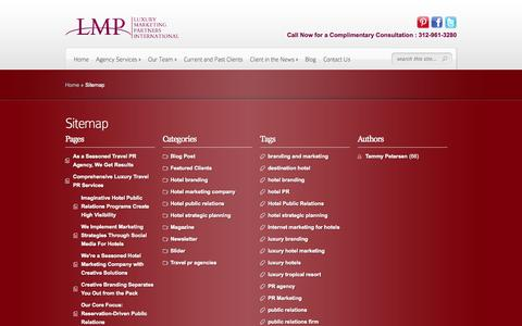 Screenshot of Site Map Page lmpinternational.com - Sitemap - captured Oct. 3, 2014