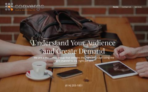 Screenshot of Home Page converge-marketing.com - Converge Media Marketing Ltd - captured Sept. 29, 2018