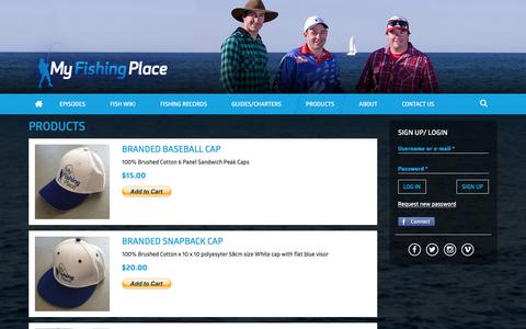 Screenshot of Products Page myfishingplace.com.au - Products | My Fishing Place - captured Feb. 26, 2016