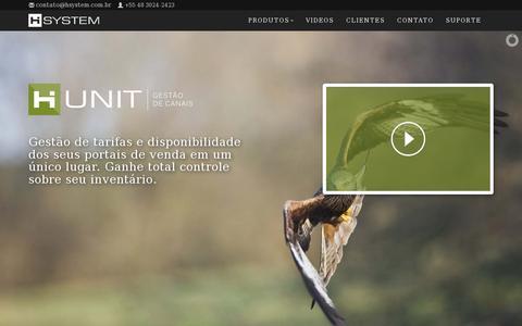 Screenshot of Home Page hsystem.com.br - Gestão de Canais, Motor de Reservas, Gestão de WiFi, Site para Hotel - captured July 11, 2014