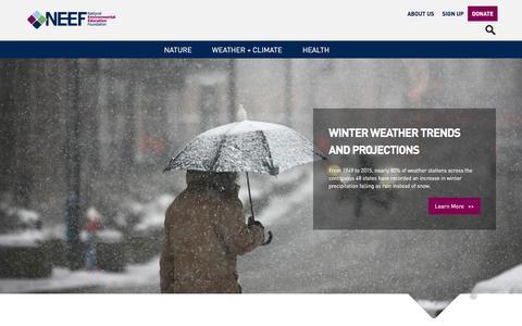 Screenshot of Home Page neefusa.org - NEEF | - captured Feb. 27, 2016