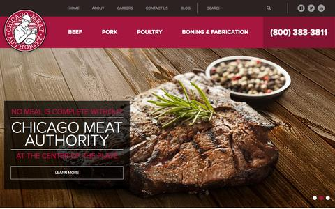 Screenshot of Home Page chicagomeat.com - Home - Chicago Meat Authority - captured Sept. 22, 2015